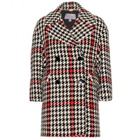 mulberry - houndstooth pea coat