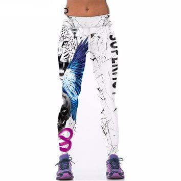 Tiger Skull Leggings - Ladies High Waist Fitness Leggings
