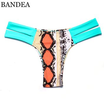 BANDEA Thong bikini women swimwear brazilian Bottoms Two-Piece Separates Swimsuit Cheeky Bikini Bottom thong Bathing Suit