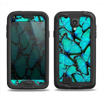 The Butterfly BackGround Flat Samsung Galaxy S4 LifeProof Fre Case Skin Set