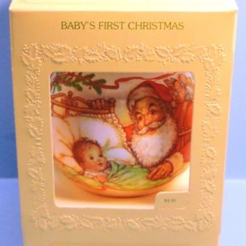 1980 Baby's First Christmas Hallmark Retired Ornament