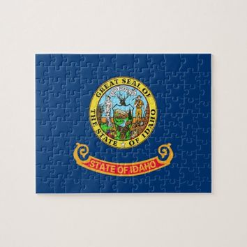 Puzzle with Flag of Idaho State