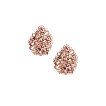 Tessa Stud Earrings in Rose Gold Drusy - Kendra Scott Jewelry
