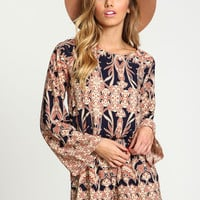 Backless Boho Print Romper