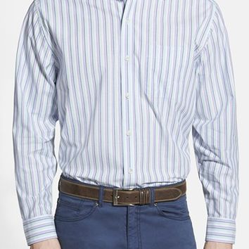 Men's Cutter & Buck 'South Hampton' Classic Fit Stripe Poplin Sport Shirt