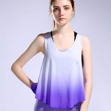 Women Pro Gym Training Tee Fitness Sports T Shirt Yoga Workout Vest Exercise Running Clothing Compression Bodybuilding Tank Top