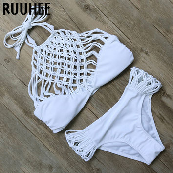 Hot Swimwear Sexy Bandage Bikini 2016 Padded Swimwear Women Swimsuit Bathing Suit Brazilian Bikini Set maillot de bain Biquini