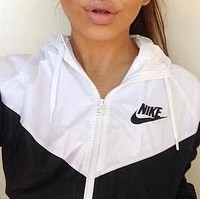 Fashion Hooded Zipper Cardigan Sweatshirt Jacket Coat Windbreaker Sportswear
