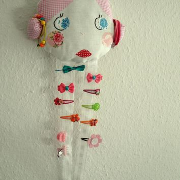 Vintage Doll Face Hair Clip Holder on Luulla