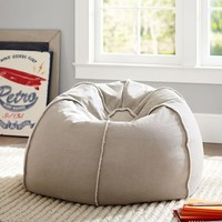 Stone Frayed Edge Beanbag