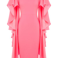 Cori Satin Cape Lady Dress | Moda Operandi