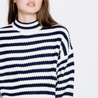Striped high neck sweater - Knit - Clothing - Woman - PULL&BEAR United Kingdom