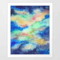 Beautiful Galaxy III Art Print by ViviGonzalezArt