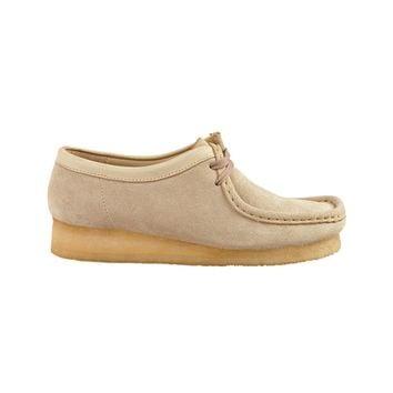 Womens Clarks Wallabee Casual Shoe, Sand  Journeys Shoes