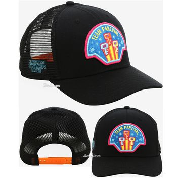 Licensed cool Ready Player One Team Parzival Trucker Hat Bright Orange Snapback Neon Patch