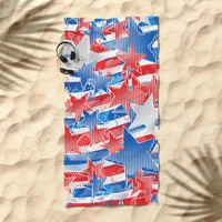 Artistic LXXXVI - Americana Beach Towel by tmarchev