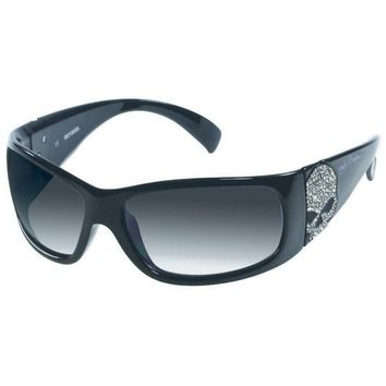 Harley-Davidson Women's Sun Bling Willie G. Skull Black Sunglasses HDS8004BLK-3F