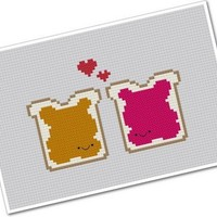 Perfect Pairings Kawaii Peanut Butter and by weelittlestitches