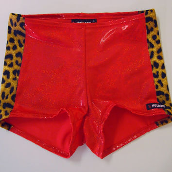 Sparkly Sporty Stripe Roller Derby Shorts - in stock, shipped today