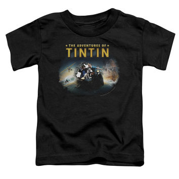 The Adventures of Tintin Journey Black Toddler T-Shirt