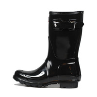 Hunter Original Short Rain Boot Black Gloss
