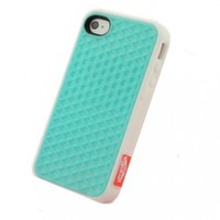 BYG Light Blue Vans Silicone Rubber Sole Vans Waffle Case Cover for iPhone 5 5G + Gift 1pcs Phone Radiation Protection Sticker