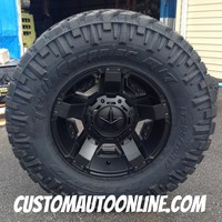 17x9 XD Rockstar II RS2 811 Black - LT295/70r17 Nitto Trail Grappler