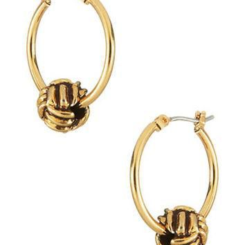 Lauren Ralph Lauren Monkey Fist Hoop Earrings