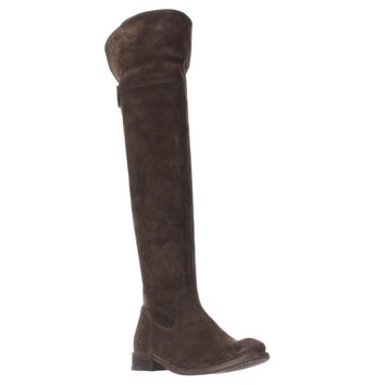 FRYE Shirley Over-The-Knee Engineer Boots, Fatigue, 6.5 US