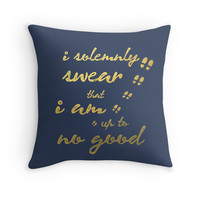 I Solemnly Swear I'm Up To No Good Throw Pillow