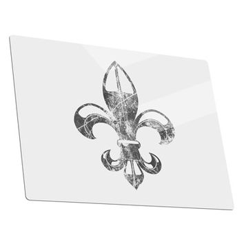 Distressed Fleur de Lis Metal Panel Wall Art Landscape - Choose Size