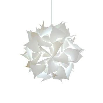 "Medium Spades 18"" Cool White Glow Modern Ceiling Hanging Light Fixtures Plug in or Hardwire as Pendant Lamp bulb included, Easy to install"