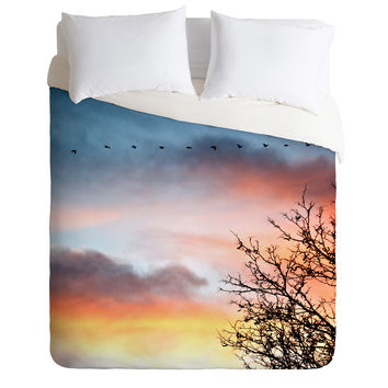 Bird Wanna Whistle Bird Line Duvet Cover
