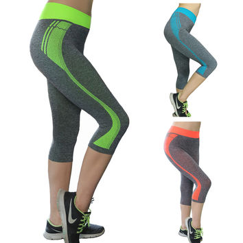 Orson New Sports gym Pants seven Yoga Pants Printing Running Pants Hip Slimming Stretch and Quick-drying Fitness Leggings