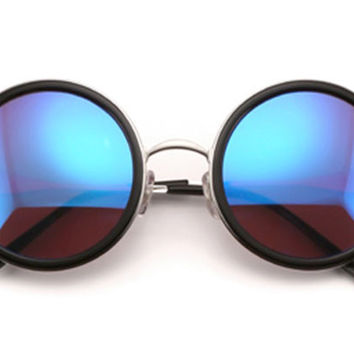 Wildfox - Ryder Deluxe Black & Silver Mirror Sunglasses