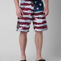 Affliction Black Premium Eagle Clutch Boardshort