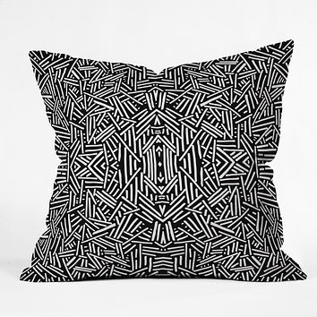 Jacqueline Maldonado Radiate Black White Outdoor Throw Pillow