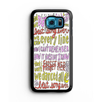 Best Song Ever Lyrics 1D Samsung S6 s5 s4 S3 Case, Note 3 4 5 Case, iPhone 6s 5s 5c 4s Cases, iPod case, HTC case, Xperia Z3 case, LG G3 Nexus case, iPad cases