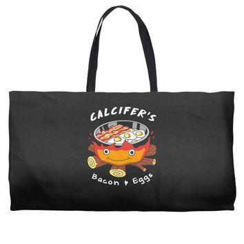 calcifer's bacon and eggs Weekender Totes