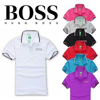 2018 Hot Sale Hugo BOSS MEN Polo Shirt 100% COTTON TOP