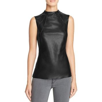 Bailey 44 Womens Faux Leather Sleeveless Tank Top
