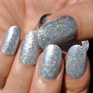 Holographic Silver Nail Art Glitter DIY Manicure Decoration Laser Powder Nail Salon Product N32