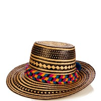 Kerala pompom-embellished straw hat | Yosuzi | MATCHESFASHION.COM US