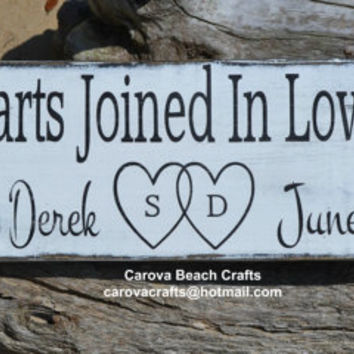 Wedding Sign - Beach Wedding Sign - Personalized - Wedding Gift - Wedding Decor - Customized Colors - Painted, No Vinyl - Anniversary Gift
