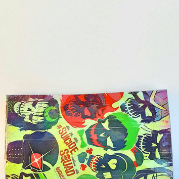 Upcycled Suicide Squad Comic Book Clutch Bag - Handbag + Purse