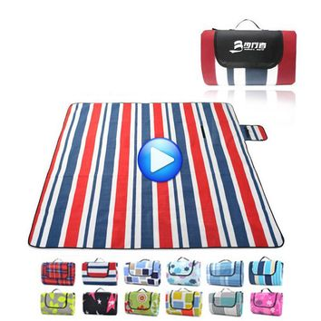Foldable Tarpaulin Outdoor Waterproof Beach Blanket