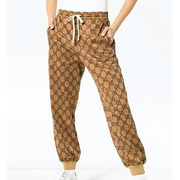 GUCCI Fashion New More Letter Print Women Men Sports Leisure High Quality Pants