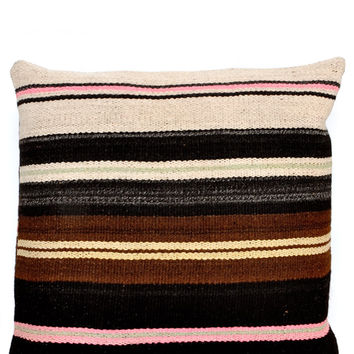 Bolivian Frazada Pillow in Desert Pastel, 22""