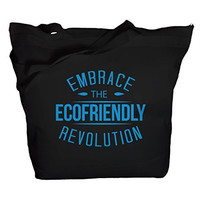 Shirts By Sarah Tote Bag Reusable 50% Recycled Embrace Eco-Friendly Revolution Bags