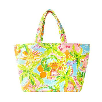 LILLY PULITZER Palm Beach Tote Sunshine State $59